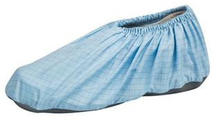 ESD occupational footwear clean room, shoe cover light blue/white, size 4