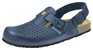 ESD Clogs night blue, professional shoe Nature, size 34