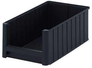 ESD visual storage box, black, 500x310x200 mm