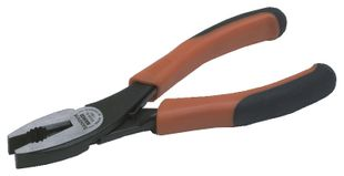 Combination pliers, ergo, burnished, 180 mm