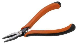 Flat nose pliers, ergo, burnished, flat jaws, 135 mm