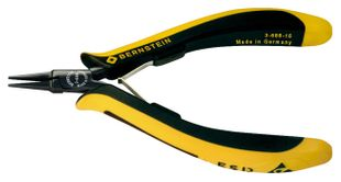 ESD flat nose pliers EUROline smooth gripping surfaces 130mm conductive