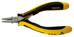 ESD flat nose pliers TECHNICline smooth gripping surfaces 130mm conductive