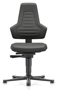 ESD Chair NEXXIT 1, with glider, Duotec black, without handles