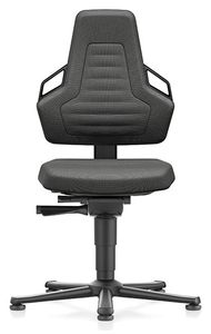 ESD chair NEXXIT 1, with glider, Duotec black, ESD handles