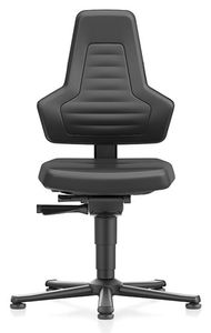 ESD chair NEXXIT 1, with glider, imitation leather black, without handles