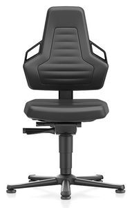 ESD chair NEXXIT 1, with glider, imitation leather black, ESD handles