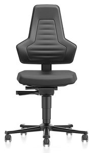 ESD chair NEXXIT 2 with castors, integral foam black without handles