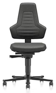 ESD Chair NEXXIT 2 with castors, Duotec black without handles