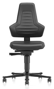 ESD chair NEXXIT 2 with castors, imitation leather black without handles