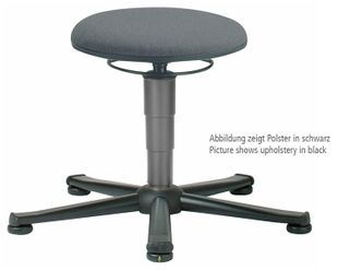 ESD Stool 1 with glider, fabric Duotec red