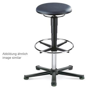 ESD stool 3 with glider and foot ring, imitation leather black
