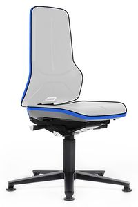 Neon 1 work chair with glider, flex strap blue, permanent contact