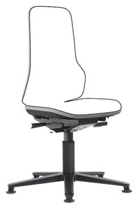 Neon 1 work chair with glider, Flexband grey, permanent contact