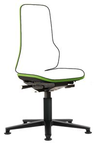 Neon 1 work chair with glider, Flexband green, permanent contact