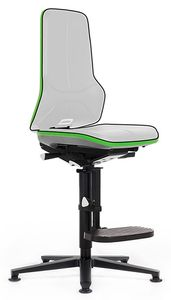 Neon 3 work chair glider and climbing aid, Flexband green, permanent contact