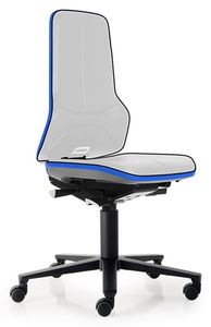 Neon 2 work chair with castors Flexband blue, permanent contact