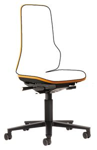 Neon 2 work chair with castors Flexband orange, permanent contact