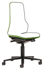 Neon 2 work chair with castors Flexband green, permanent contact