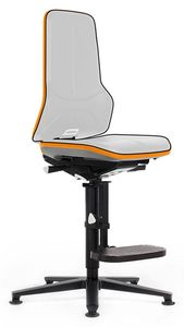 Neon 3 with glider and climbing aid, Flexband orange, synchronous technology - with seat stop castors