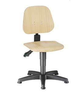 Work chair Unitec 1 with glider, beech plywood