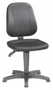 Unitec 1 work chair with glider, black fabric upholstery