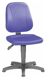 Unitec 1 work chair with glider, fabric upholstery blue