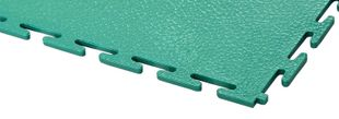 PVC floor tile, green, standard, smooth, 500 x 500 x 7 mm