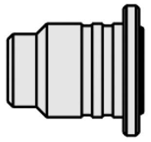 Flame nozzle for gas solder set Independent 130, straight, nickel-plated