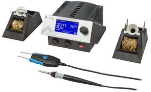 2 channel soldering station with SD-Slot, i-Tool 150 W & Chip-Tool Vario 2x40 W