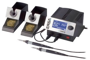 2 channel soldering station with SD-Slot, 2x i-Tool 150 W