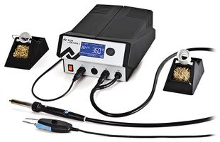 2 channel soldering and hot air station, with CHIP-Tool vario 2x40 W