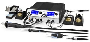 4 channel soldering and hot air station with vacuum, i-TOOL, CHIP-TOOLvario, X-TOOLvario & AIR-TOOL