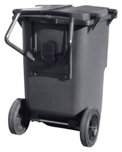ESD garbage can, square, 240 litres