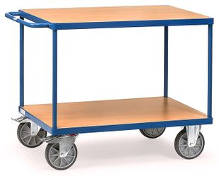 Table trolley heavy, 2 shelves, 600 kg, 1000 x 700 mm