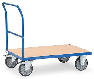 Push-bar trolley, 1 shelf, 600 kg, 1000 x 700 mm
