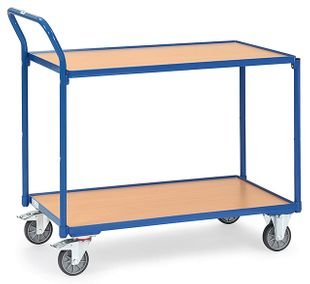 Table trolley light, 2 shelves, 300 kg, 850 x 500 mm