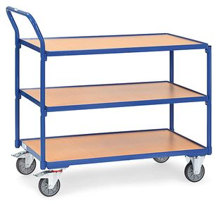 Table trolley light, 3 shelves, 300 kg, 1000 x 600 mm