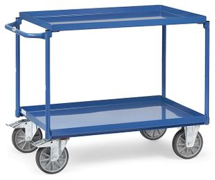 Table trolley, 2 tubs, 400 kg, 850 x 500 mm