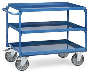 Table trolley, 3 tubs, 400 kg, 1000 x 700 mm