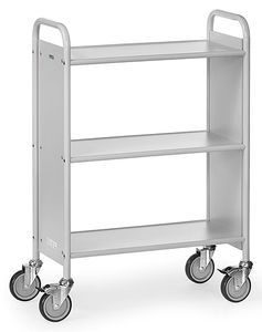 Office trolley, 3 shelves, 150 kg, 720 x 350 mm