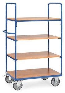 Shelf trolley, 4 shelves, 1800 mm height, 600 kg, 1000 x 700 mm