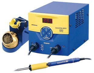 Multifunctional double soldering station with FM-2027