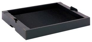 ESD tray flat lying, stackable, 305x243x40 mm