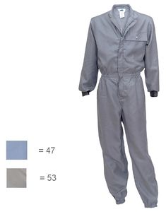 Cleanroom overall grey 58/60