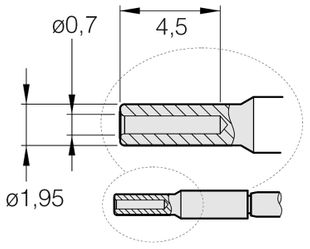Soldering tip for T210-A / T210-NA, special shape