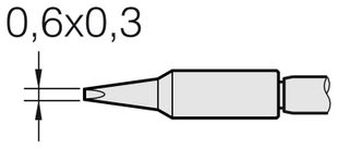 Soldering tip for T210-A / T210-NA, chisel-shaped