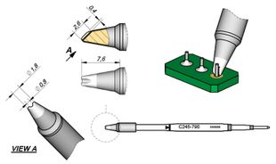 Soldering tip Pin / Connector, D: 0.8 mm