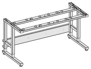 Table frame Sintro, 930x750mm, 200 kg load capacity