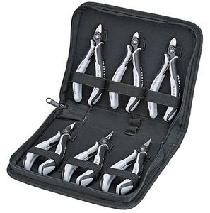 ESD precision electronic pliers set, 6 pieces